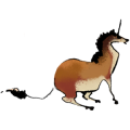 Riding unicorn Arabian Horse Roan