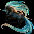 Riding unicorn Marwari Dun Tobiano