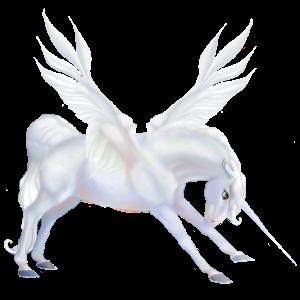 Gevleugelde rijpaard-eenhoorn Mustang Lever kastanje