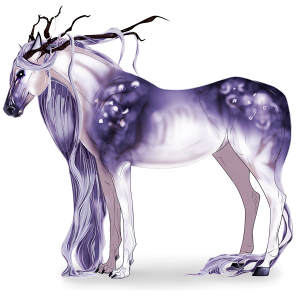 Riding unicorn Arabian Horse Fleabitten Gray