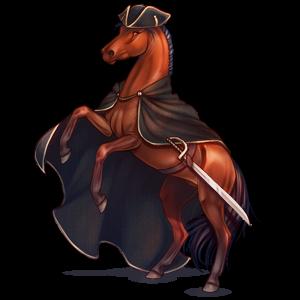 Верховая лошадь Аргентинский Криолло Огненно-рыжая с лавовой гривой