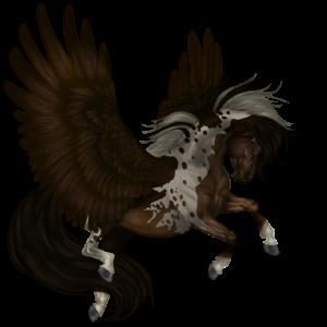 Pony-pegasus Welsh Kastanje