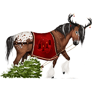 Christmas Horse.Christmas Riding Horse Gypsy Vanner Cherry Bay Tobiano