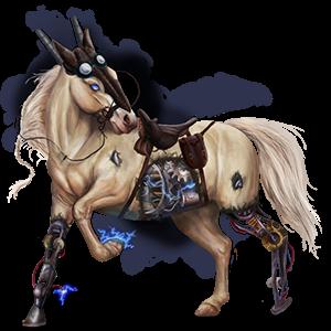 Cavalo de passeio Caçador Irlandês Ruão-rosilho