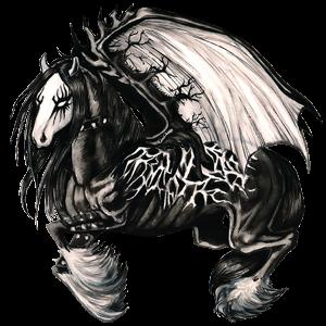 Tažný pegas Percheron Smíšený bělouš