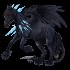 Pegaz wierzchowy Koń achał-tekiński Jasnosiwa