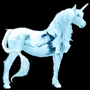 Unicorn pony Highland Pony Dun