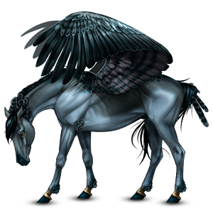 Riding pegasus Hanoverian Light Gray