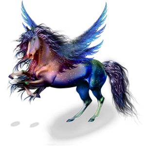 Pegasus-Reitpferd Argentinischer Criollo Roan