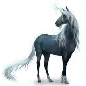 Riding unicorn Purebred Spanish Horse Dapple Gray