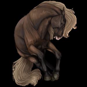 Pony Welsh Flaxen Liver chestnut