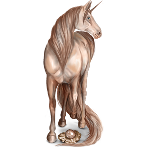 Jednorożec wierzchowy Koń achał-tekiński Skarogniada