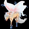 Winged riding unicorn Arabian Horse Bay