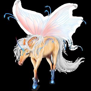 Winged riding unicorn KWPN Palomino