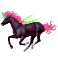 Okřídlený jednorožec Islandský kůň Tmavý hnědák