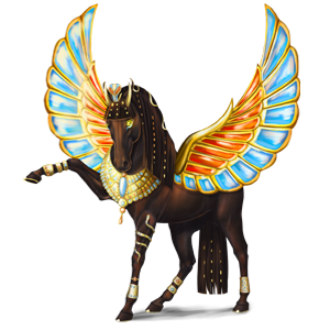 Winged riding unicorn Knabstrupper Roan