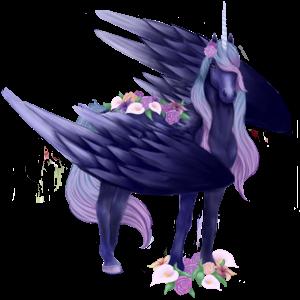 Winged unicorn pony  Shetland Palomino