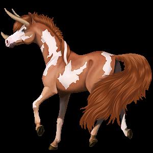 Pony-eenhoorn Kerry Bog Bruine Tobiano