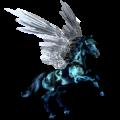 Pegaz Koń czystej krwi arabskiej Siwa Jabłkowita