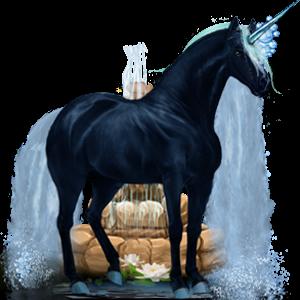Licorne de selle Mustang Rouan