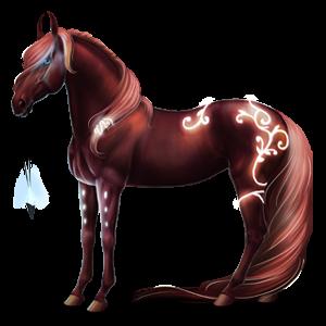 Верховой Пегас Лошадь лузитанской породы Изабелловая