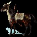 Pony Shetlander Zwarte tobiano