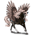 Riding pegasus Standardbred Roan