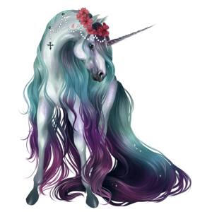Riding unicorn Lusitano Dapple Gray