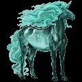 Riding unicorn Icelandic Horse Dark Bay