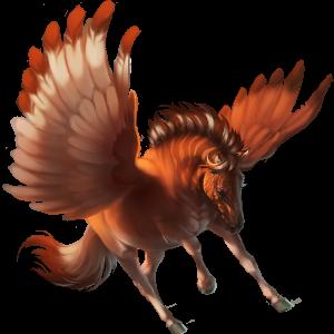 Pegasus-Reitpferd Nokota Rappe