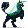 Winged riding unicorn Knabstrupper Chestnut Snowflake