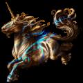 Jednorożec wierzchowy Koń achał-tekiński Ciemnokasztanowata