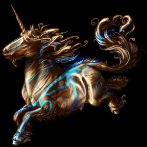 Licorne de selle Mustang Cremello