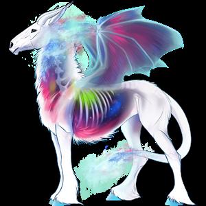 Winged riding unicorn Marwari Bay