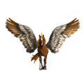 Winged riding unicorn French Trotter Bay