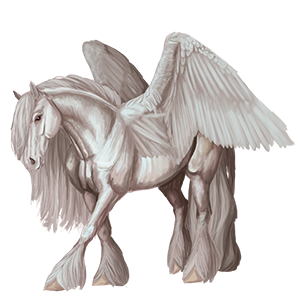 Trekpaard-pegasus Percheron Gestippeld grijs
