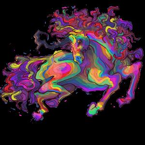 Riding unicorn Knabstrupper Black Leopard