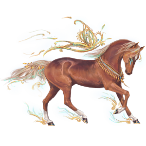 Riding pegasus Nokota Chestnut Overo