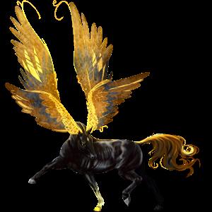 بيغاسوس ركوب حصان عربي  أسود