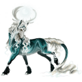 Licorne de selle Shagya Noir