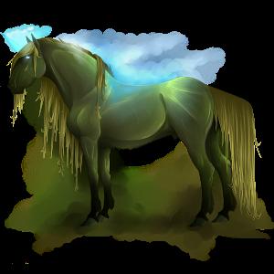 Riding unicorn Appaloosa Black Snowflake