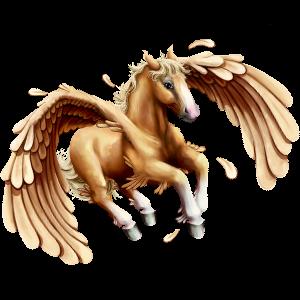 Jezdecký pegas Argentinský kreolský kůň Cremello