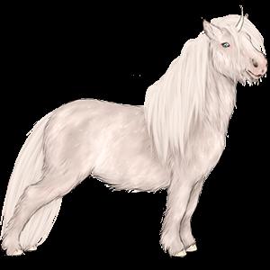 Unicorn pony Shetland Light Gray