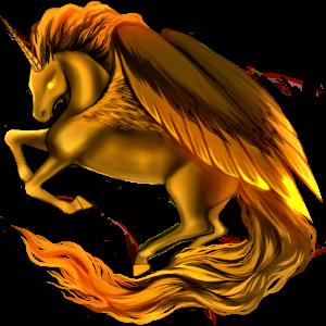 Winged riding unicorn Arabian Horse Cherry bay