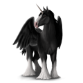 Winged draught unicorn Shire Black