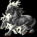 Licorne de trait Shire Gris Clair