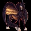 Licorne de trait ailée Shire Noir