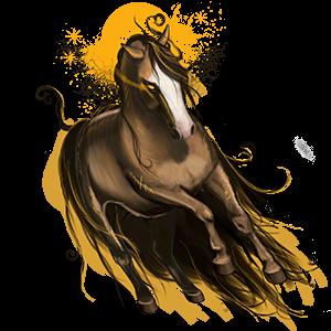 Cheval de selle Paint Horse Pie Tovero Alezan Brûlé