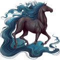 Rijpaard Lusitano Gestippeld grijs
