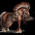 Winged draft unicorn Shire Black